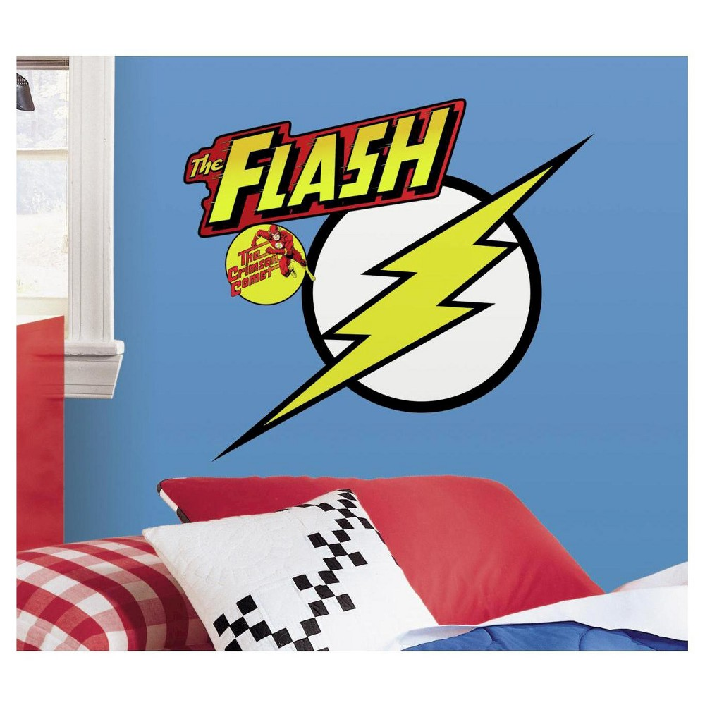 Image of RoomMates Classic Flash Logo Peel and Stick Giant Wall Decals