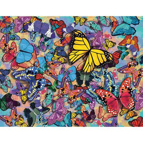 Springbok Butterfly Frenzy Jigsaw Puzzle 500pc - image 1 of 2