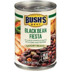 BUSH'S Savory Beans Black Bean Fiesta - 15.5oz