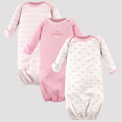 Luvable Friends Baby Girls' 3pc Night Gowns - Pink 0-6M