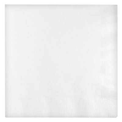 2ply 60ct Disposable Lunch Solid Napkin White - Spritz™