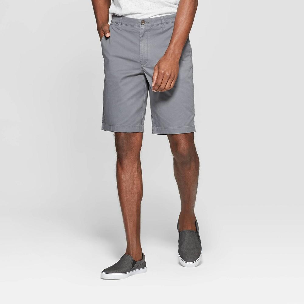 Men's 10.5 Chino Shorts - Goodfellow & Co Thundering Gray 38