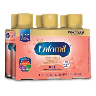 Enfamil A.R. Ready to Use Bottle 8oz, 6ct