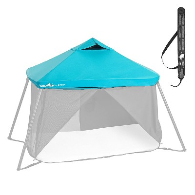 Babymoov Naos Anti-UV Protection Mesh Canopy Privacy Cover Attachment for Naos Portable Travel Cot, Shade Indoor and Outdoor Use, Blue (Canopy Only)