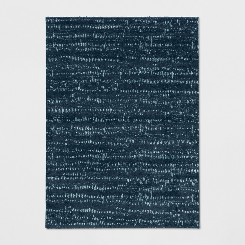 9'2X12' Woven Fleck Area Rug Navy (Blue) - Project 62
