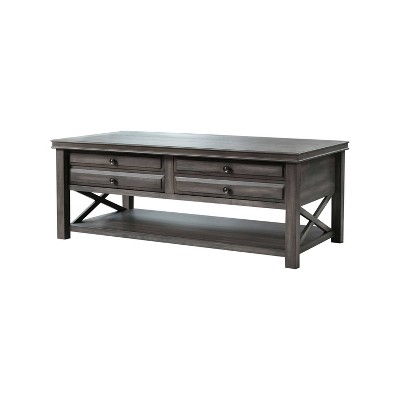 Felicity Wood Coffee Table Gray - Abbyson Living