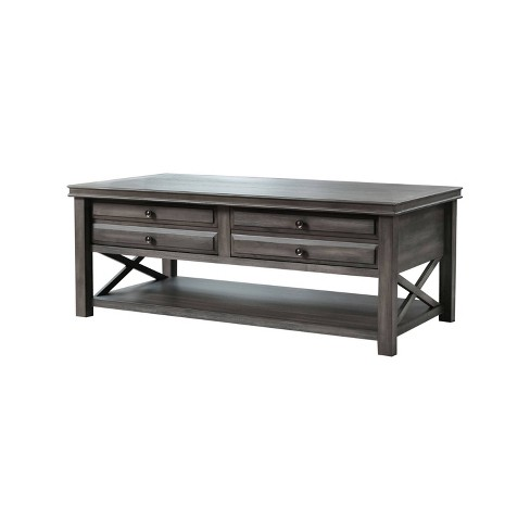 Felicity Wood Coffee Table Gray - Abbyson Living - image 1 of 4