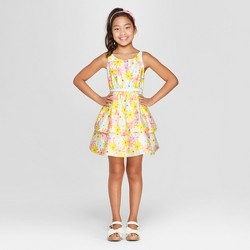 5a30a015a Girls' Floral Print Dressy Dress - Cat & Jack™ Yellow