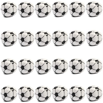 Blue Panda 24 Packs Soft Foam Mini Soccer Balls Birthday Party Favors Squishy Stress Reliever Stress Relief Toys Decorations