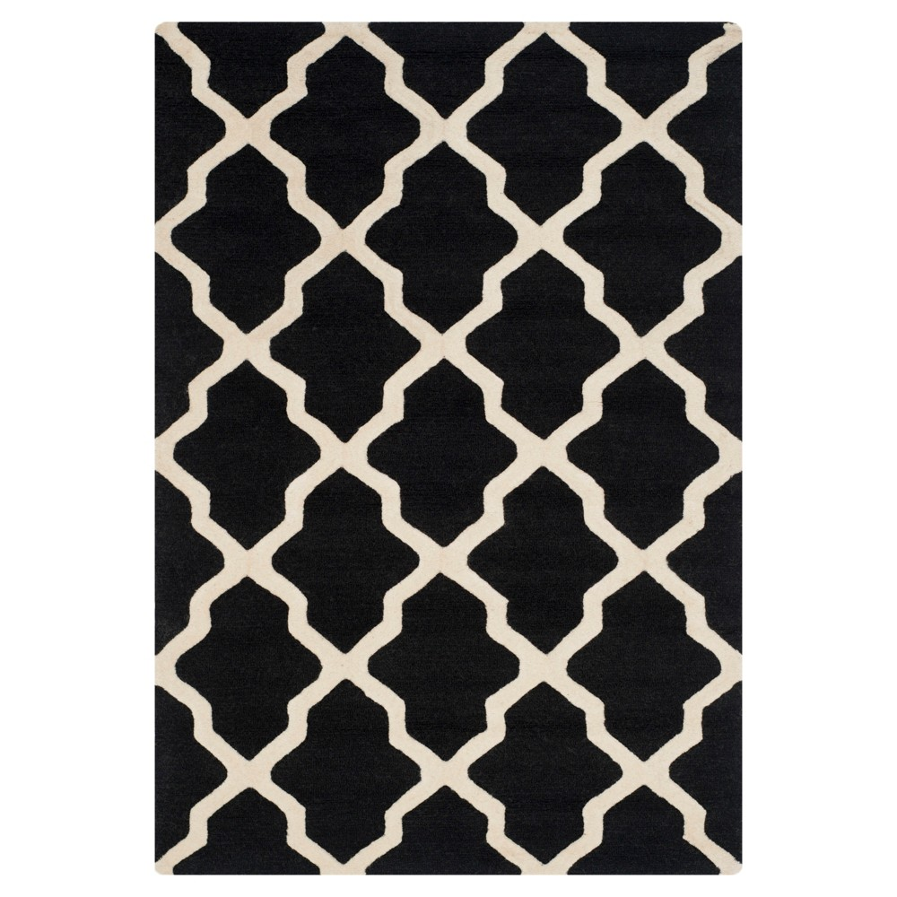 Maison Textured Area Rug - Black/Ivory ( 4' x 6') - Safavieh