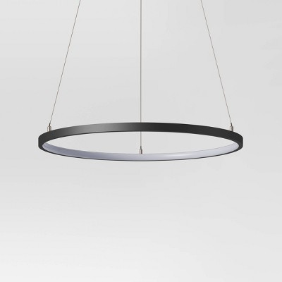 "25"" LED Neon Pendant Lamp Black - Project 62™"