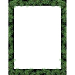 80pk Christmas Pine White/Black - Great Papers!