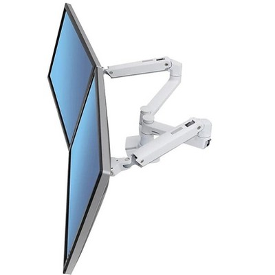 """Ergotron LX Dual Side-by-Side Monitor Arm Up to 27"""" Monitor White 45-491-216"""