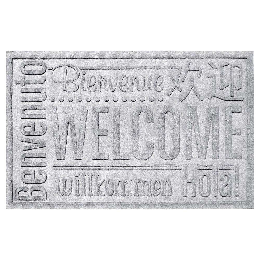 White Typography Pressed Doormat - (2'X3') - Bungalow Flooring