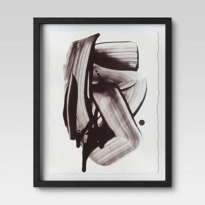 "16"" x 20"" Black Ink Framed Print - Project 62™"