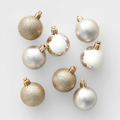 24ct 40mm Christmas Ornament Set Champagne - Wondershop™ - image 1 of 2