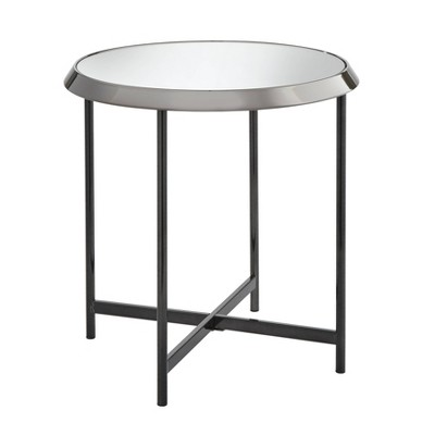 Carly End Table Black Nickel- Buylateral