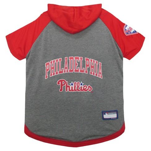 d2cca264dd3 Philadelphia Phillies Pets First Pet Baseball Hoodie Shirt - Gray M ...