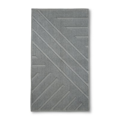 Geo Stripe Bath Mat Drizzle Gray - Project 62™ + Nate Berkus™