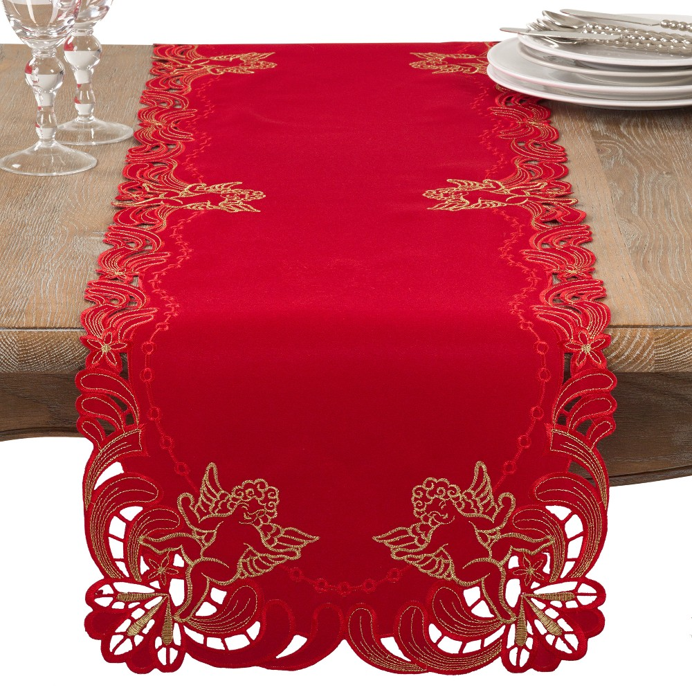 Red Angel Table Runner - Saro Lifestyle