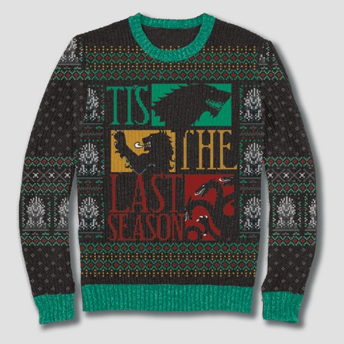 Men's Game of Thrones Tis The Last Season Pullover Sweater - Black - image 1 of 1