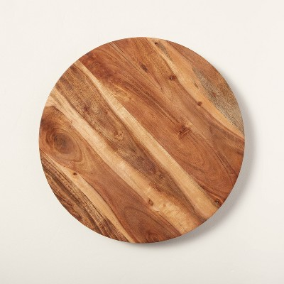 """Round 18"""" Natural Wood Lazy Susan - Hearth & Hand™ with Magnolia"""