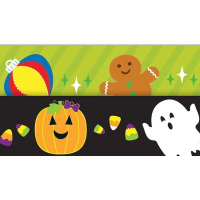 Carson Dellosa 12ct 36' Halloween/Holiday Two-Sided Bulletin Board Borders