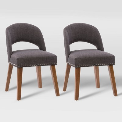 Set of 2 Tiffany Upholstered Dining Chairs - CorLiving