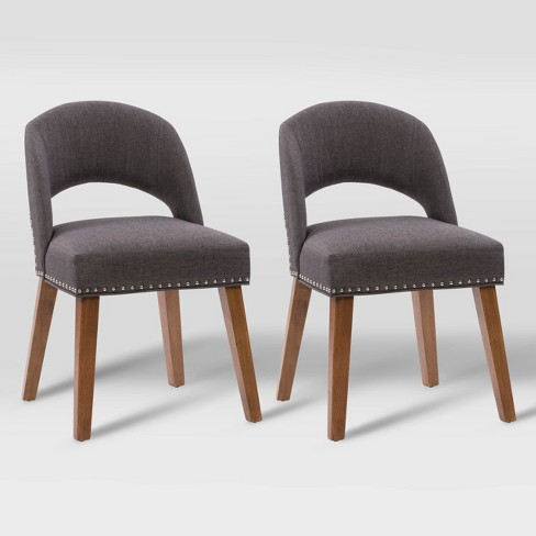 Set Of 2 Tiffany Upholstered Dining Chairs Corliving Target