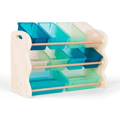 Totes Tidy Storage Bin Organizer Soft Sky - B. spaces