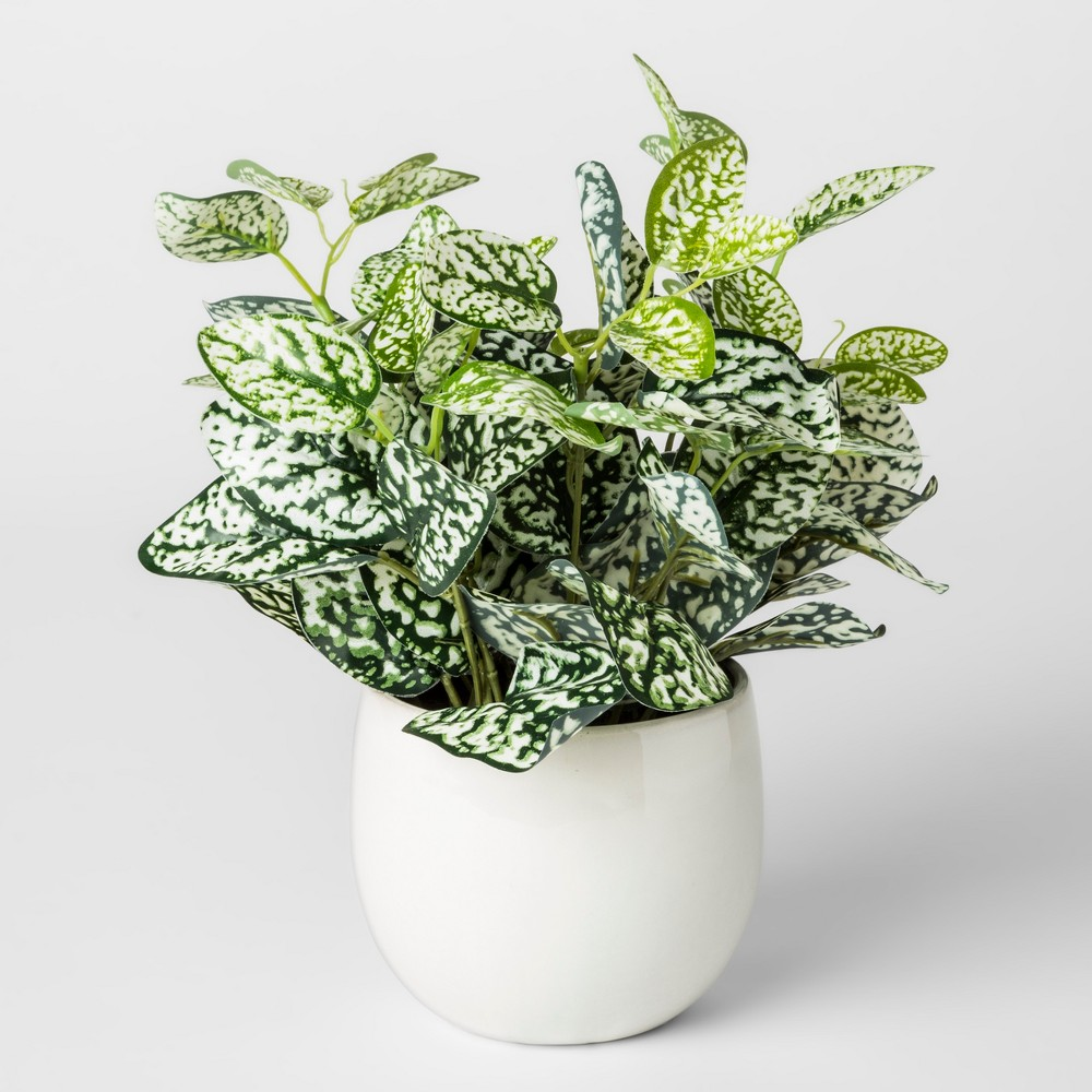 Faux Plant in White Pot - Threshold