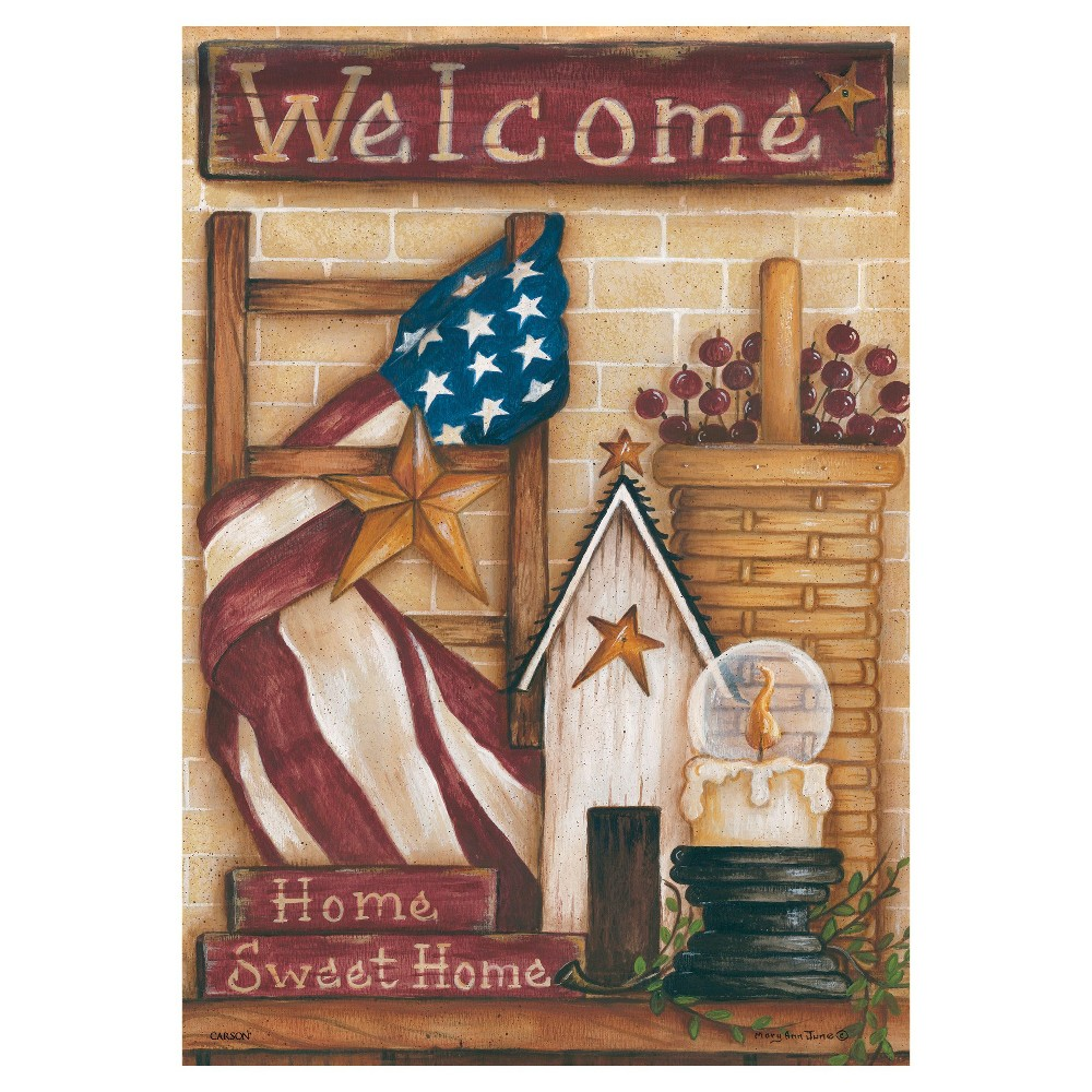 "Image of ""13""""x18"""" Sweet Home Americana Garden Flag - Carson, Multi-Colored"""