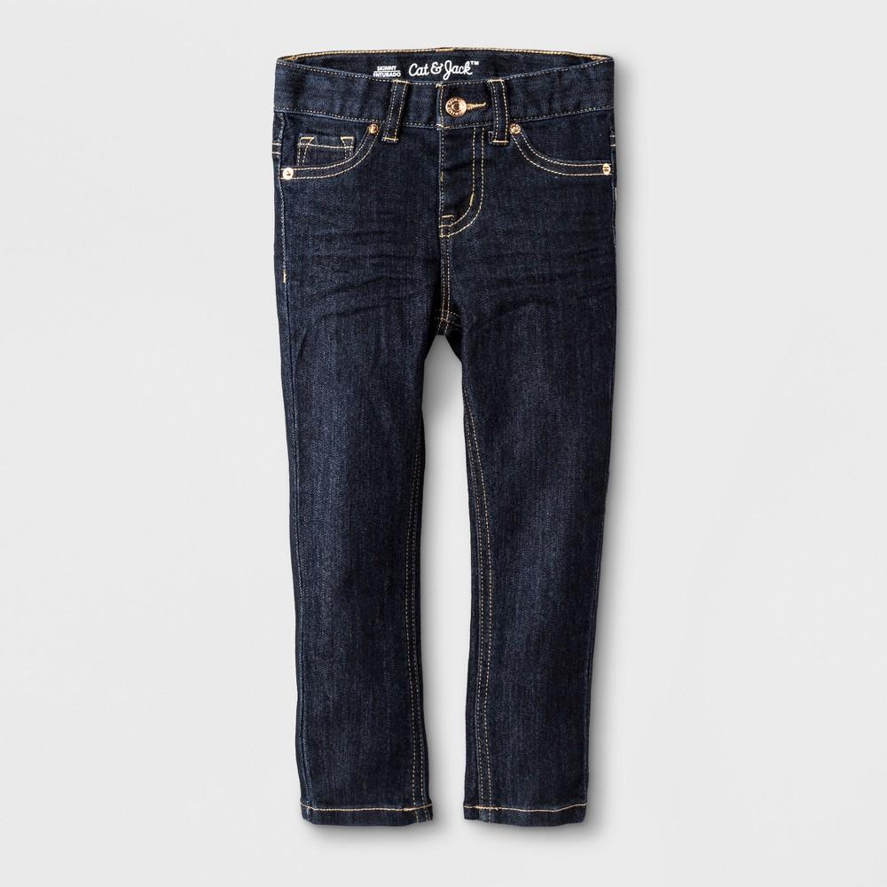 Toddler Girls' Jeans - Cat & Jack Dark Blue 12M