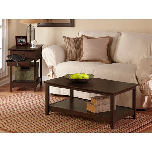 68f8ce41cb5 Buena Vista Coffee Table With Set Of 2 End Tables - Madison Cherry - Bush  Furniture   Target