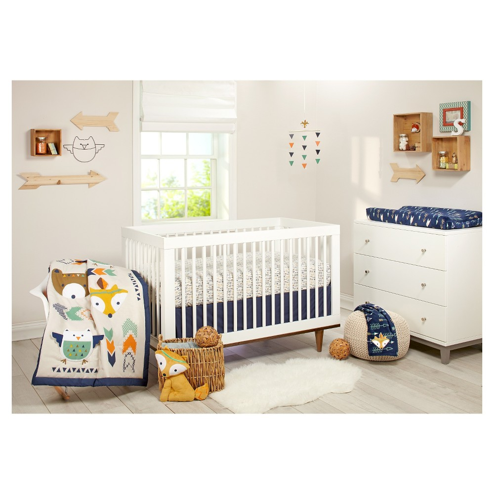 Image of Little Love by NoJo Aztec 5pc Crib Bedding Set