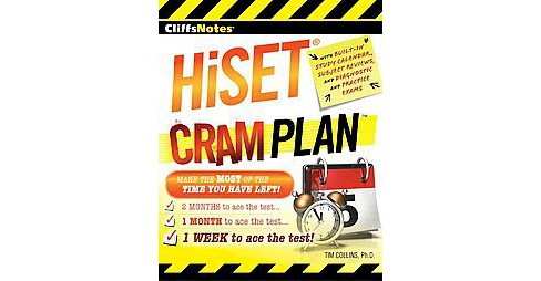 CliffsNotes HiSET Cram Plan (Paperback) (Ph.D. Tim Collins) - image 1 of 1