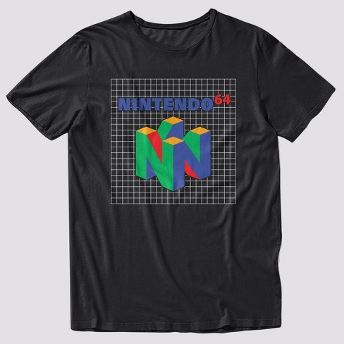 Men's Nintendo Logo Short Sleeve Graphic T-Shirt - Black - image 1 of 1