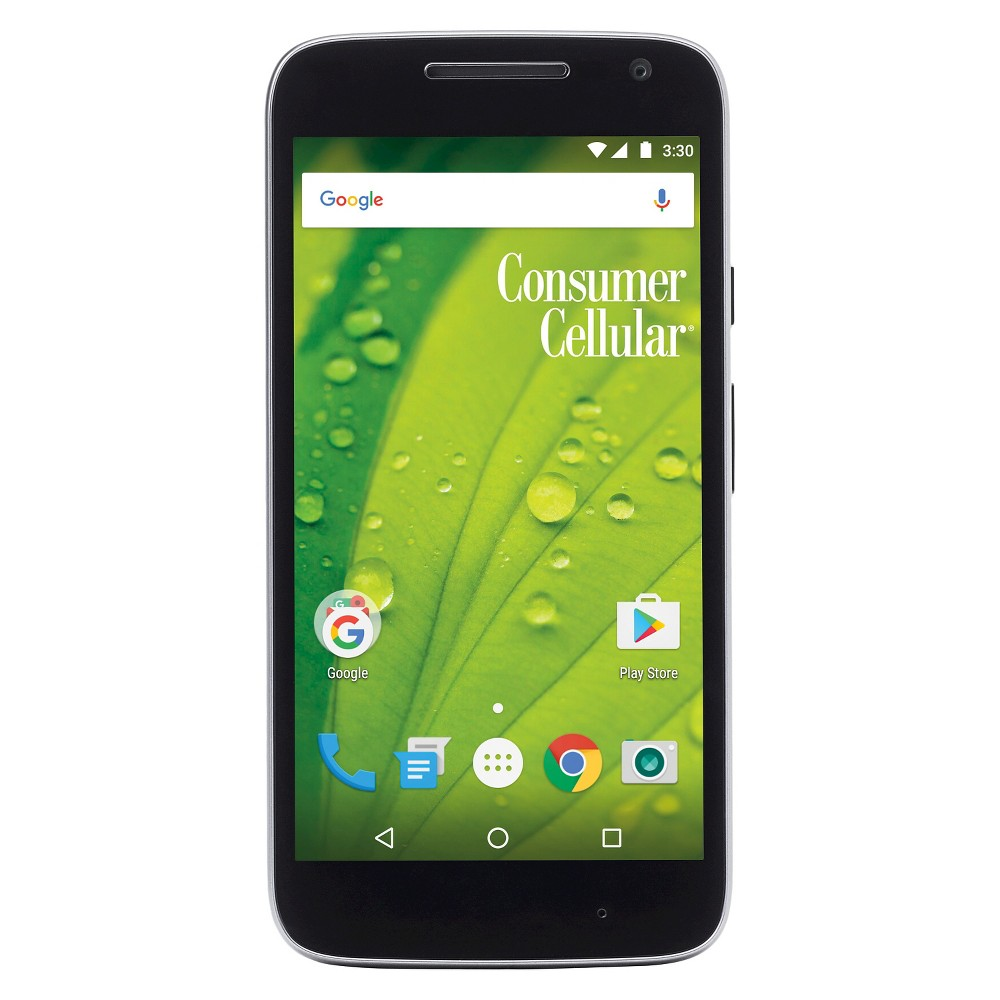 Consumer Cellular Moto G4 Play 8GB Smartphone - Black Get a great phone that has lots of features with this Consumer Cellular Moto G4 Play. Android operating system gives you access to thousands of apps. Color: Black.