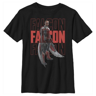 Boy's Marvel The Falcon and the Winter Soldier Falcon Repeating T-Shirt