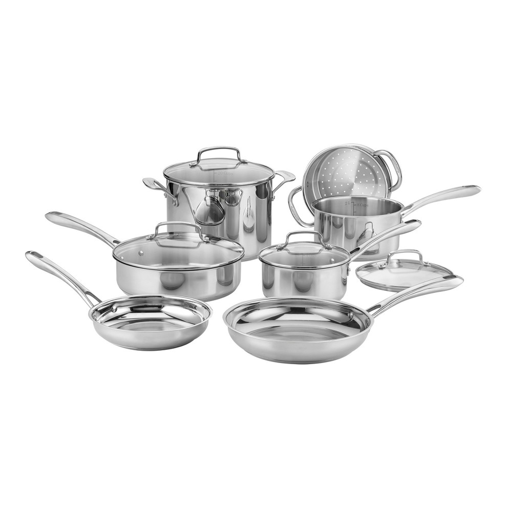 Cuisinart Classic 11pc Stainless Steel (Silver) Cookware Set