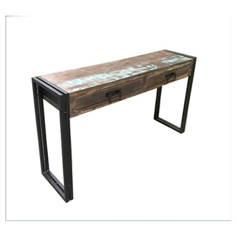 Old Reclaimed Wood 60 Console Table With Metal Legs Timbergirl