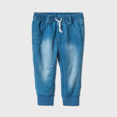 Baby Boys' Long Jogger Jeans - Cat & Jack™ Light Denim 6-9M