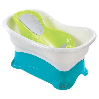 Summer Infant Comfort Height Bath Tub - Multi-Stage Tub and Step-Stool