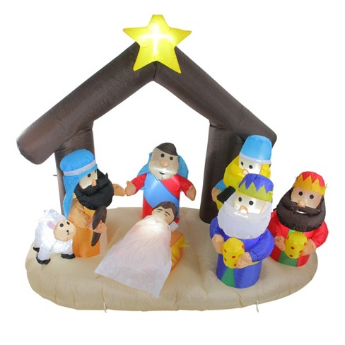 Northlight 5.5' Inflatable Nativity Scene Lighted Christmas Outdoor Decoration - image 1 of 2