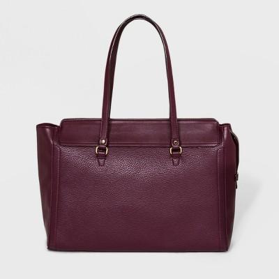 Memento Work Tote Handbag - A New Day™ Burgundy