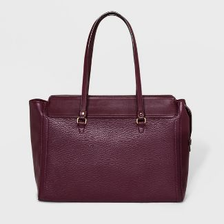Memento Work Tote Handbag - A New Day™ Burgundy