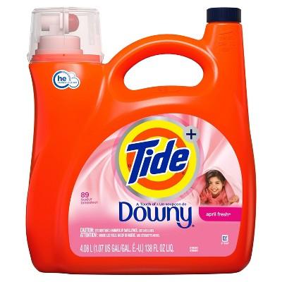 Tide Plus A Touch of Downy April Fresh High Efficiency Liquid Laundry Detergent - 138 fl oz