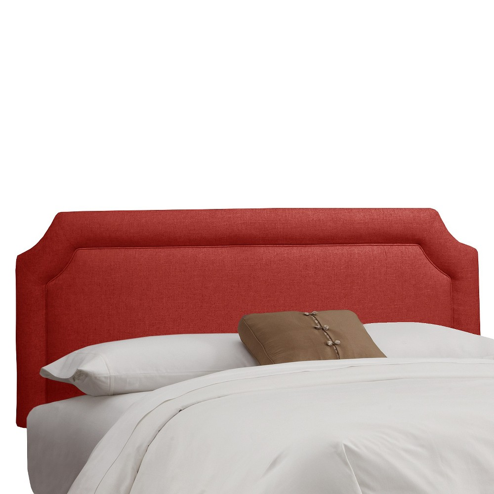 California King Clarendon Notched Headboard Red Skyline Furniture