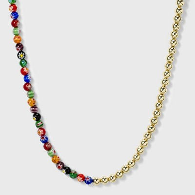 SUGARFIX by BaubleBar Dual Beaded Statement Necklace