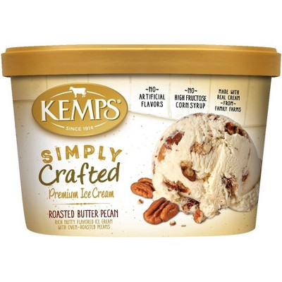 Kemps Simply Crafted Roasted Butter Pecan Ice Cream - 48oz